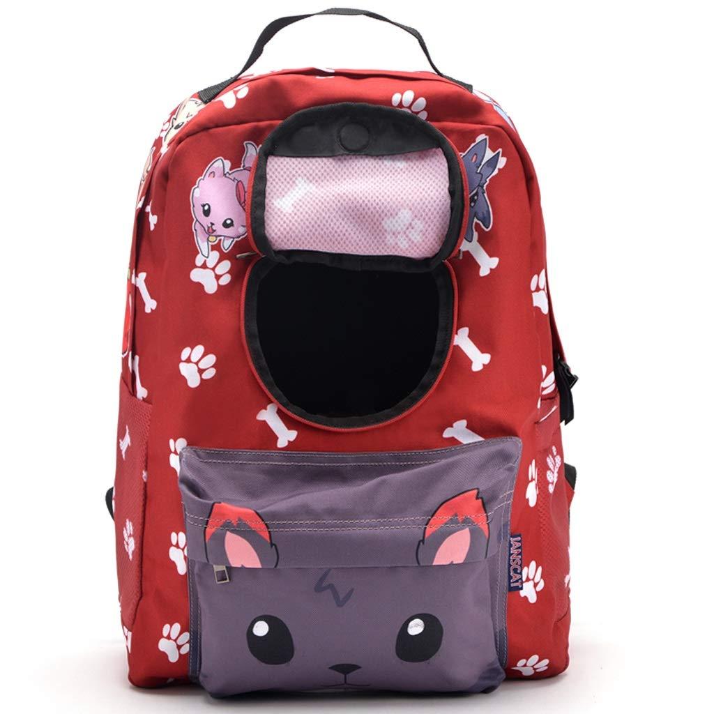 E PLDDY Pet Bag Pet Backpack Outgoing Shoulder Bag Portable Breathable Short Waterproof Bag, 6 Styles Can Be Selected, 32  17  42cm (color   E)