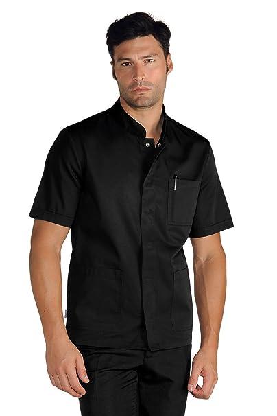 Isacco – Bata de manga corta para hombre – Color negro: Amazon.es: Ropa y accesorios