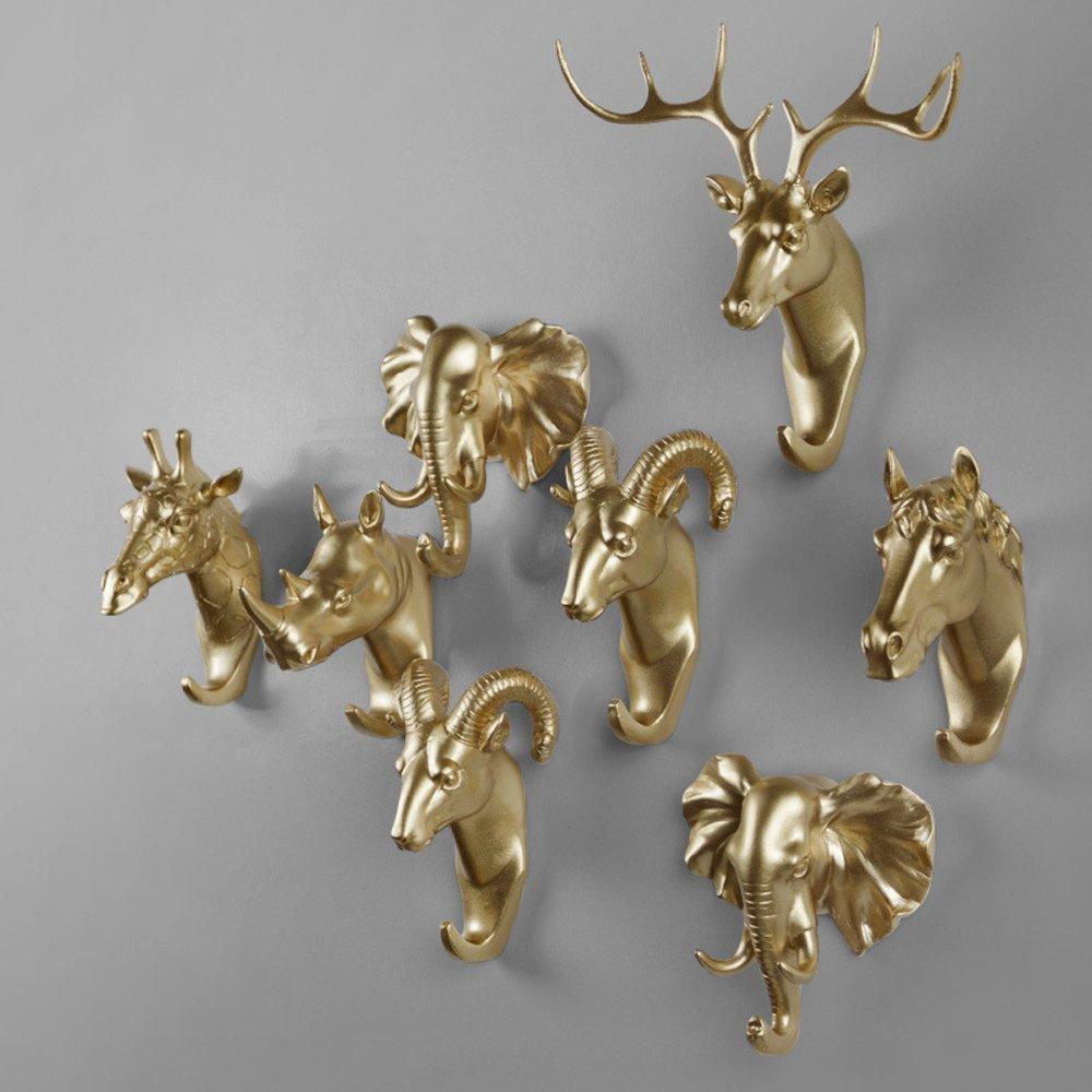 Evilandat pecore singolo da parete appendiabiti cappello gancio a forma di animale regalo decorativo oro