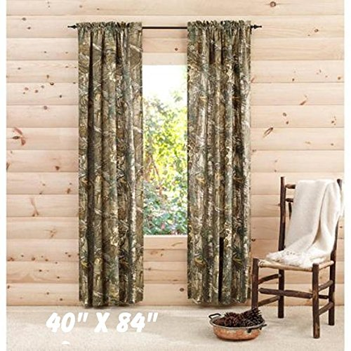 RealTree Xtra Camo 40″ x 84″ Curtain Panels, Set of 2