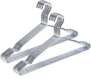 Better to U Chrome Hanger, Metal Hangers for Clothes Shirt Suit Coat-20 PCS (Chrome)