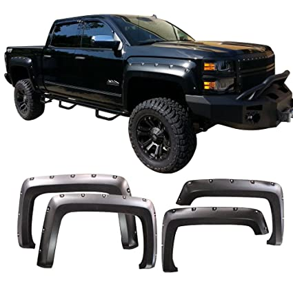 Amazon Com Fender Flares Fits 2014 2017 Chevy Silverado 1500 Long