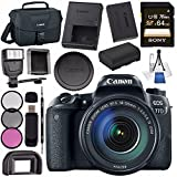 Canon EOS 77D DSLR Camera with 18-135mm USM Lens 1892C002 + Sony 64GB SDXC Card + LPE-17 Lithium Ion Battery + Flash + Canon 100ES EOS shoulder bag + Card Reader + Memory Card WalletBundle