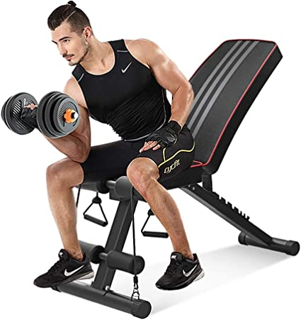 Dumbbell Barbell Incline Bench Adjustable Fitness Gym Workout Flat Training New