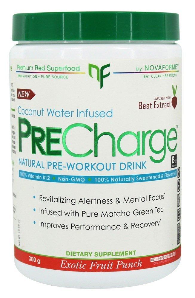 NovaForme PreCharge Natural Pre-Workout Drink Exotic Fruit Punch 300 g
