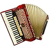 Horch Deluxe 120 Bass, Amazing, Full Size German Piano Accordion, New Straps 934, Very beautiful and Quality sound.