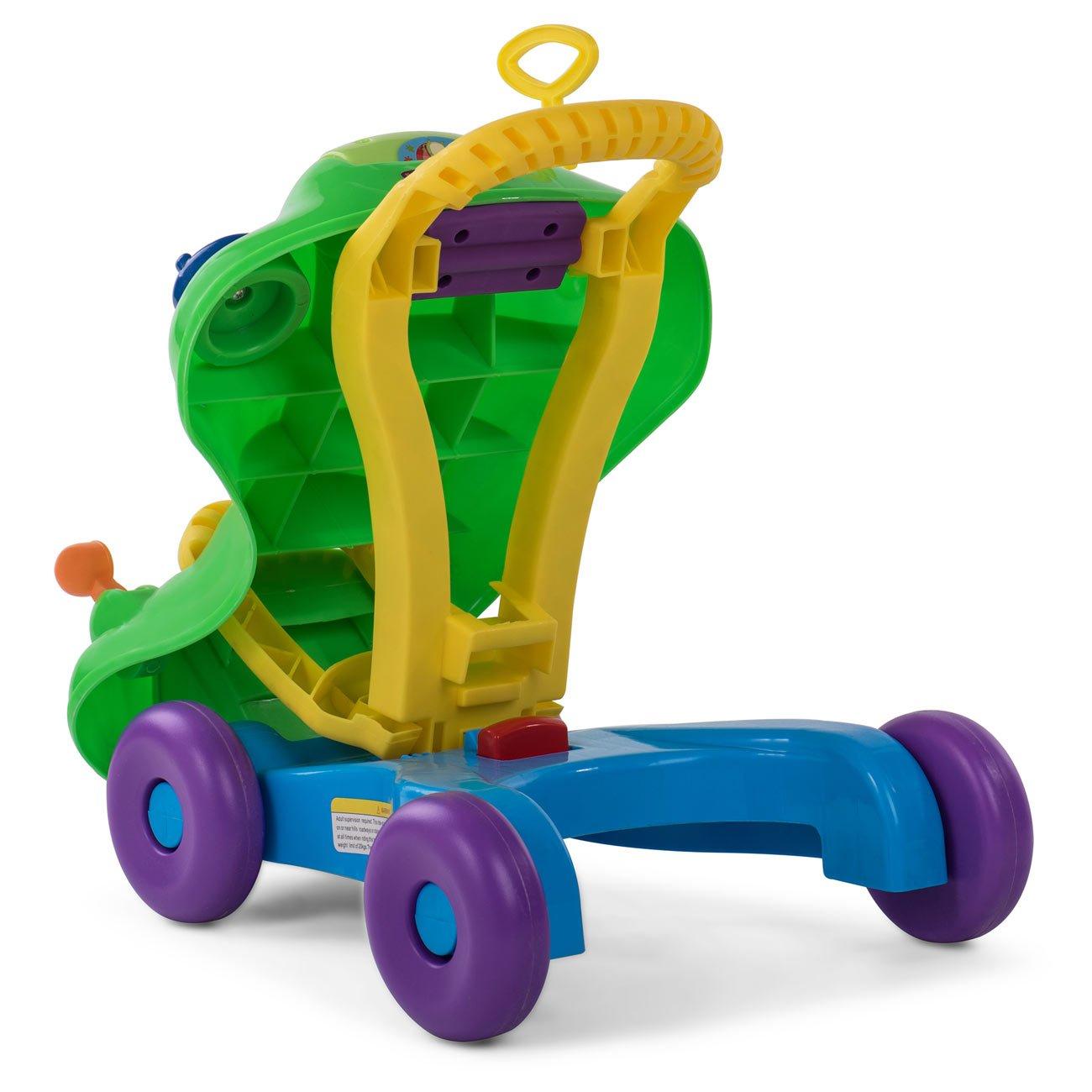 Vert Baby Vivo Trotteur Pour B/éb/é Porteur 2en1 Marcheur Marchettes Enfant Voiture Jouet Enfants Multifonctionnel