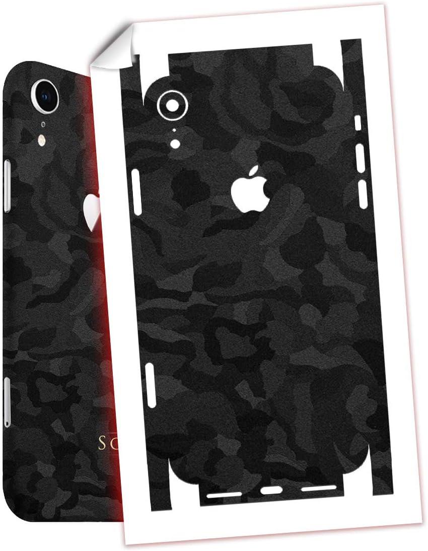 SopiGuard Sticker Skin for iPhone XR Precision Edge-to-Edge Full Body Wrap (Black Camo)