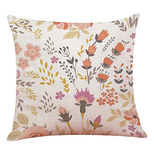 TiTCool 2019 Pillow Covers 18x18 inch Throw Pillow Cases Decorative Country Seasons Home Outdoor (U) (Best Pillow Topper 2019)