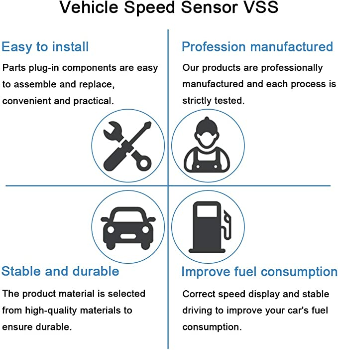 ECCPP Vehicle Speed Sensor SC149 SU5634 fit for 1998-2002 Chevrolet Prizm,1993-1997 Geo Prizm,1995-1999 Toyota Avalon,1992-1996 2002-2004 Toyota Camry,1994-1999 2002-2005 Toyota Celica