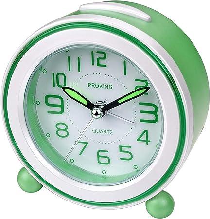 Alaso R/éveil en Ligne,Reveil Matin,R/éveil de Voyage Digital Alarm Clock R/éveil Enfant Educatif Horloge de Chevet Mini r/éveil analogique /à Poser avec Fonction r/éveil