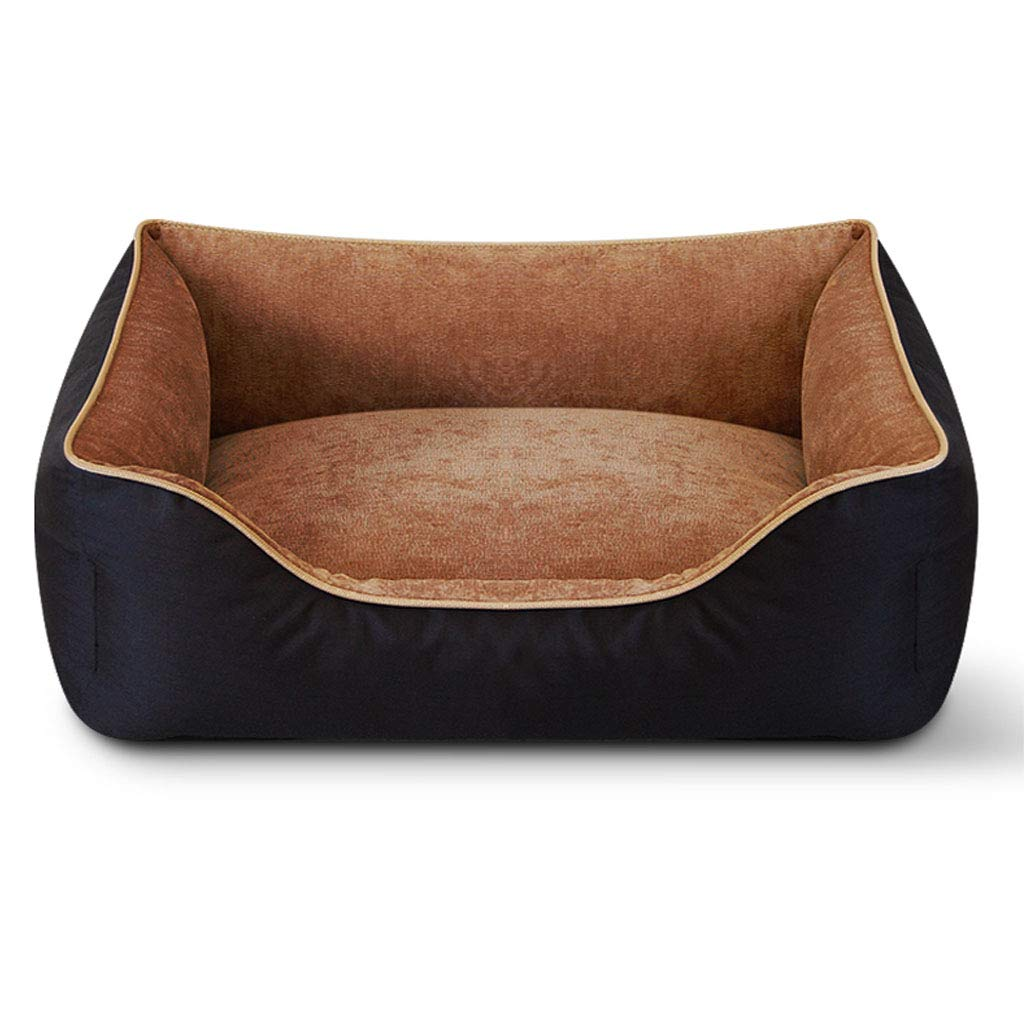 45CM Dog bed cat mat Pet Mattress Washable Bite Resistant Pet Products Dog Litter Cat Litter Brown Small to Medium35 45 58 74cm Four seasons universal washable (Size   45CM)