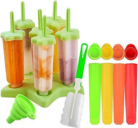 FORYOURS Moule /à Glace Ice Pop Mold//Moule /à Glace Id/éal pour Les Enfants et Les Adultes Popsicle Moules DIY R/éutilisable Moules /à Gla/çons