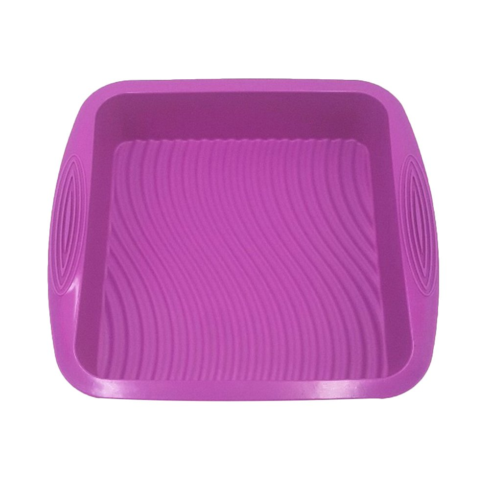 DAYNECETY Square Cake Moulds Silicone Baking Mould Tin Tray Oven Bakeware Square Mould