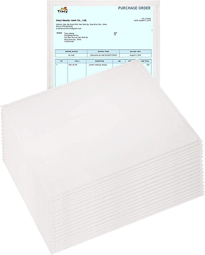 100 Count Clear Self-Adhesive Pouches for Shipping Labels