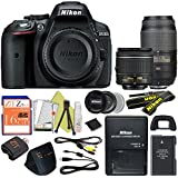 Nikon D5300 24.2 MP Digital SLR Camera (18-55 & 55-300, Retail Packaging)
