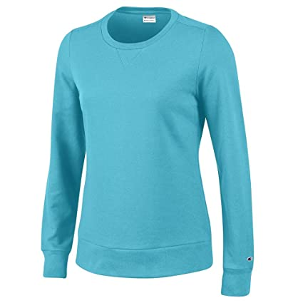 6c77d86c6a5 Image Unavailable. Image not available for. Color  Champion Women s  (Turquoise Waters) Crewneck University Crew Fleece