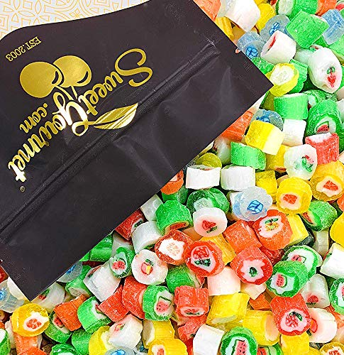 Christmas Cut Rock Hard Candy | Seasonal Bulk Unwrapped Retro Candy | 2 pounds