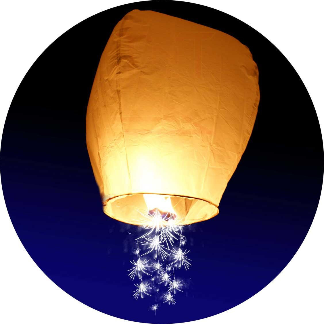 10-Pack - Sparkler Chinese Lantern - Make a Wish on a Shooting Star Sky Lanterns - Eco-Friendly Biodegradable Magical for Birthday Party or Wedding - Big Wishing Balloons - by TnT Sales in Michigan