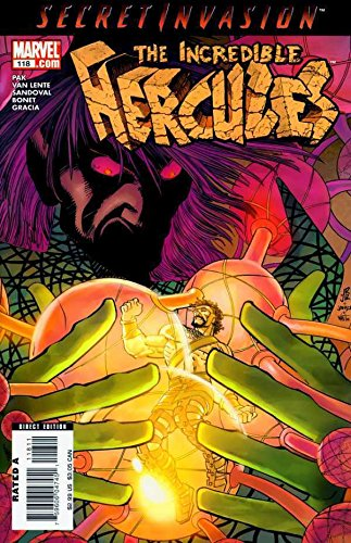 INCREDIBLE HERCULES #118 VF+ SECRET INVASION TIE-IN