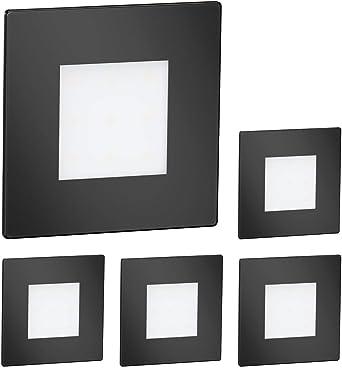 15 Stk. warmweiß eckig LED Treppen-Licht FEX Wand-Leuchte 230V 8,5x8,5cm