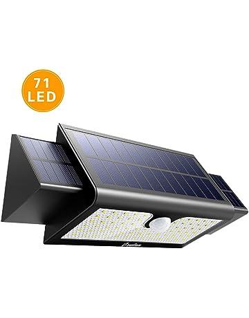 Zanflare Lámpara Solar con Sensor de Movimiento 71 LED Luz, Lámpara de Panel Solar Movimiento