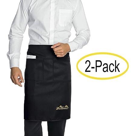 Delantales Cortos para la Cintura Delantales para Camareros x 10 Negro