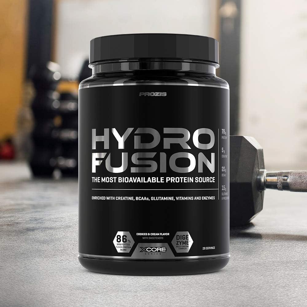 XCore Hydro Fusion Proteína de Suero de Leche en Polvo 900g - Suplemento para el Crecimiento del Músculo y la Recuperación - Con el Mejor Sabor ...