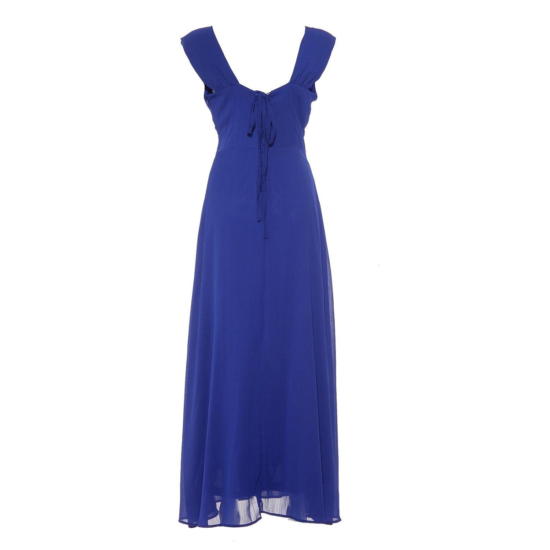 Maboobie - Vestido para damas de honor de boda Vestido largo del Chifón para Fiesta de noche graduacion Damas Madrina (Azul rey (M)): Amazon.es: Hogar