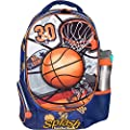 MB ALL STAR - Kids Backpack Elementary School Book Bag for Boys with 3D Basketball Soccer Sport Design - Large Compartments and Side Pockets - Durable with Padded Bottom (16 Inches)