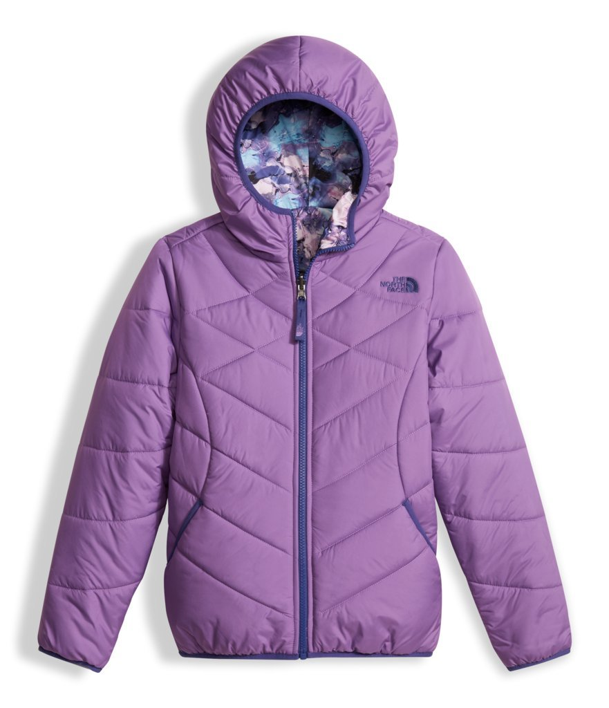 The North Face Girls Reversible Perrito Jacket - Bellflower Purple - XS by The North Face