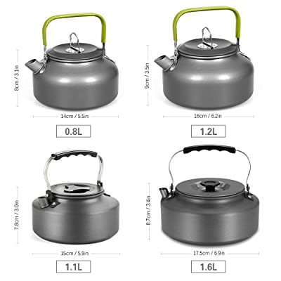 1.1L Portable Ultra-light Outdoor Hiking Camping Picnic Pot Water Kettle Teapot