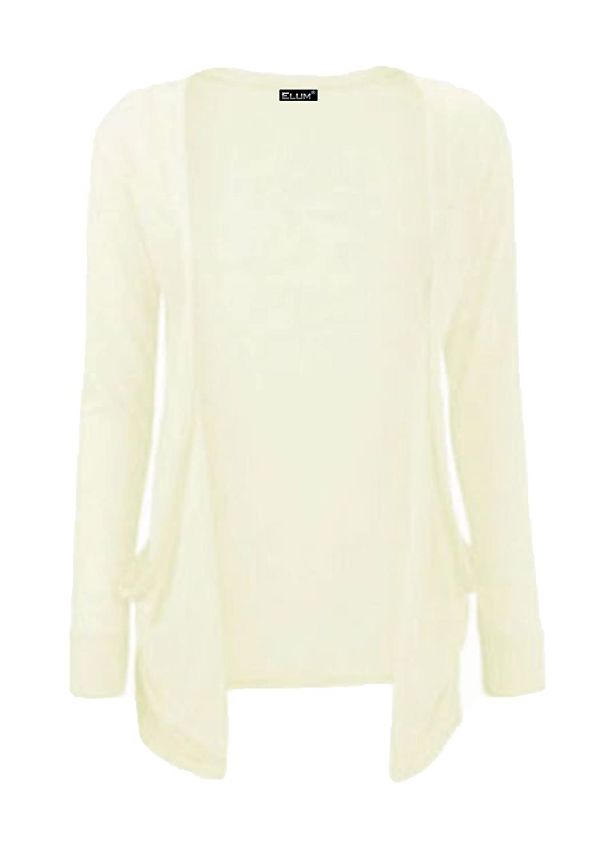 Elum /® Girls Kids Long Sleeves Boyfriend Pocket Cardigan
