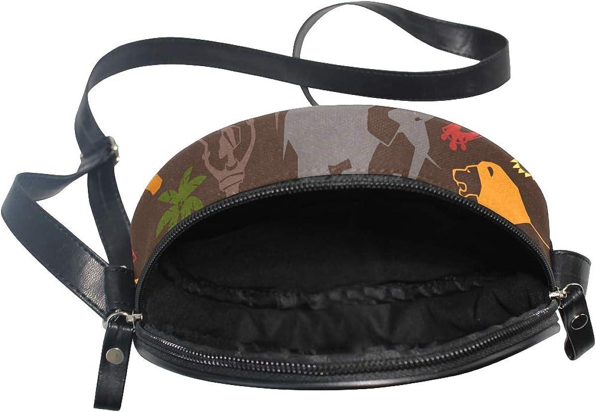 KEAKIA African Drum Round Crossbody Bag Shoulder Sling Bag Handbag Purse Satchel Shoulder Bag for Kids Women