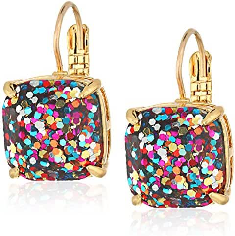 kate spade new york Small Square Lever-Back Drop Earrings