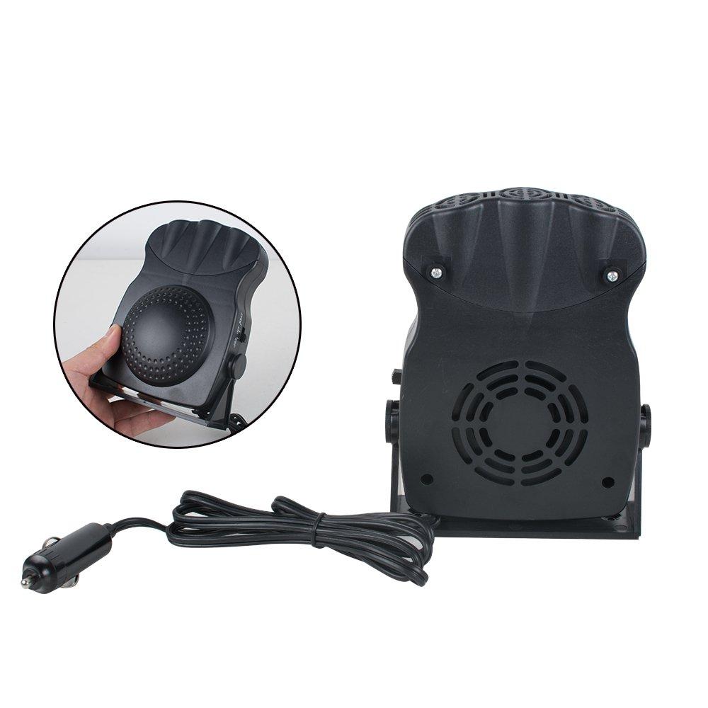 Enshey Car Heater Portable Fast Heating Quickly Defrosts Defogger 12V 150W Auto Ceramic Heater Cooling Fan Car Vehicle Heating Cooling Fan Defroster Demister Winter Windscreen Window Demister