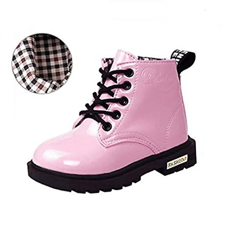 Botas Para Niña Botines Cuero Impermeables Zapatos Antideslizante Martin Boots 2017 Otoño Invierno Zapatos para niños
