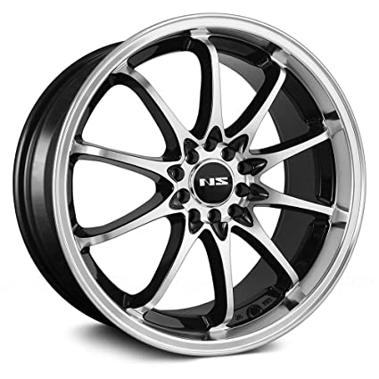 Amazon NS Series NS60 Сustom Wheel Black With Machined Face Best 5x105 Bolt Pattern