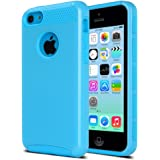 iPhone 5c Case, ULAK iPhone 5c Case Dual Layer Hybrid Hard PC + TPU Protective Case Cover For Apple iPhone 5c (Blue + Blue)