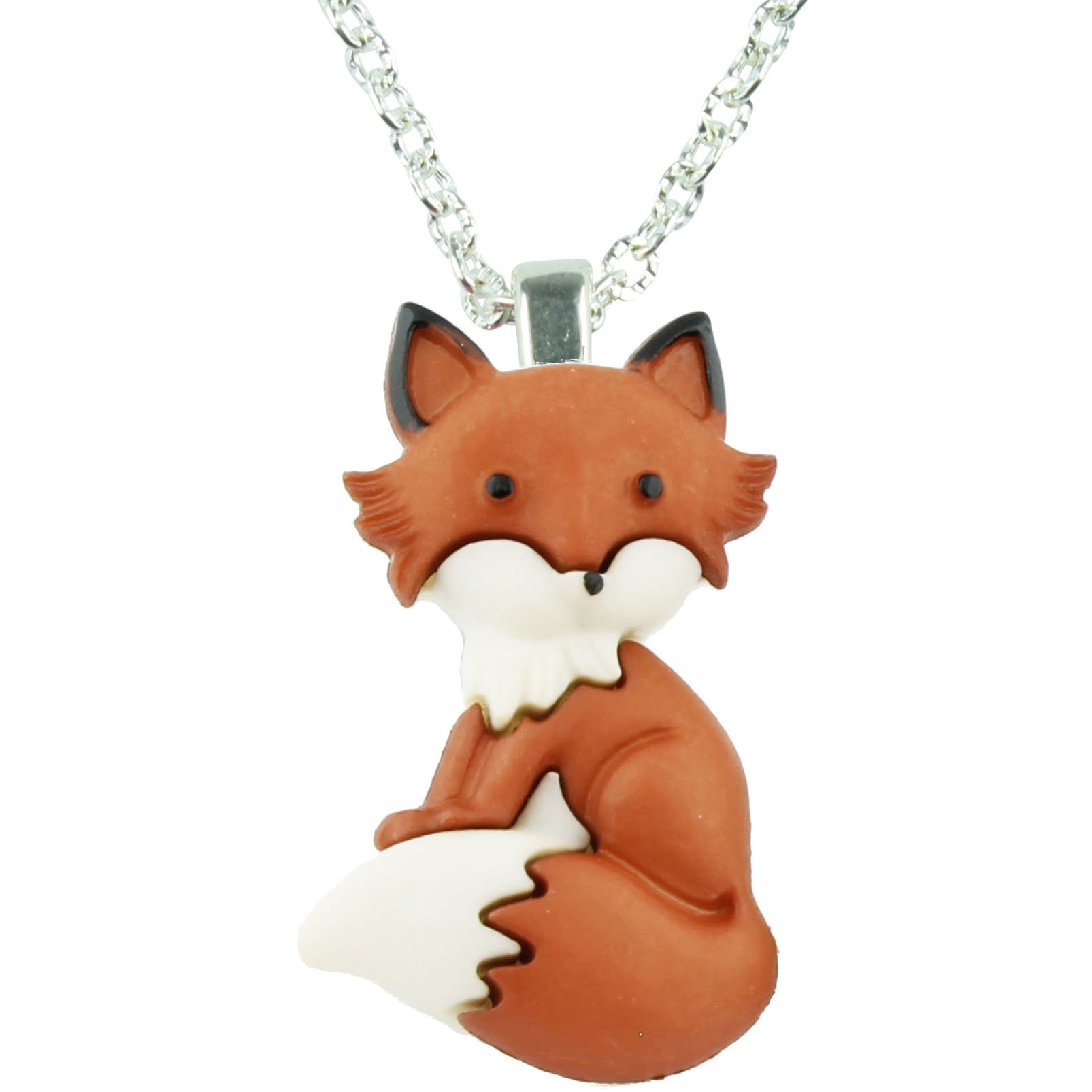 The Funky Barcode Funky Fox Friendly Necklace Gift Box Available