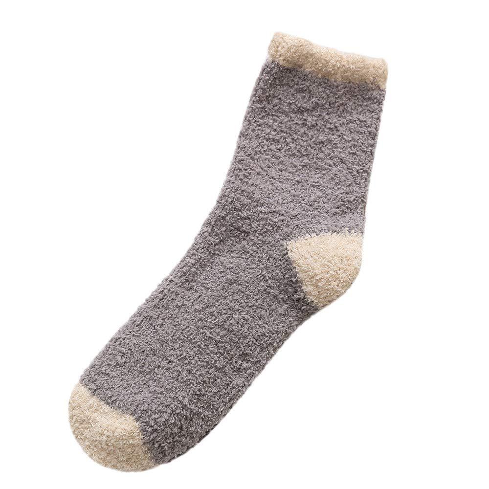 Pausseo Women Ladies Cotton Socks Thicker Anti-Slip Coral Fleece Floor Socks Carpet Socks Short Soft Comfortable Skateboard Sweat Deodorant Anti-Slip Girls Bed Sleep Skateboard Casual Sock