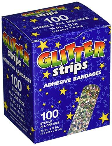 American White Cross 1075413 Designer Adhesive Bandages, Sterile, Glitter, 3 per 4