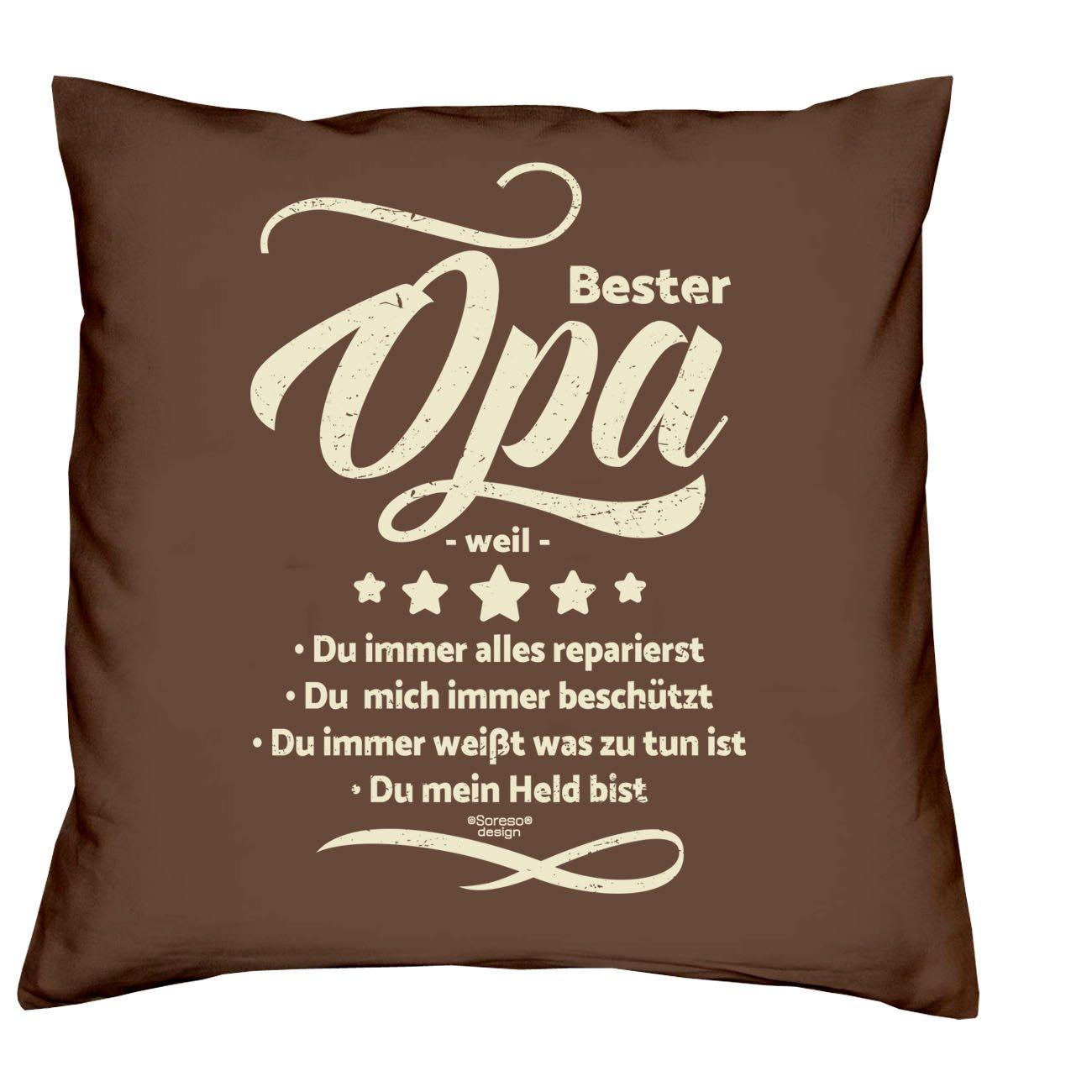 Weihnachtsgeschenk für Oma & Opa -:- 2 Kissen inklusive Füllung ...