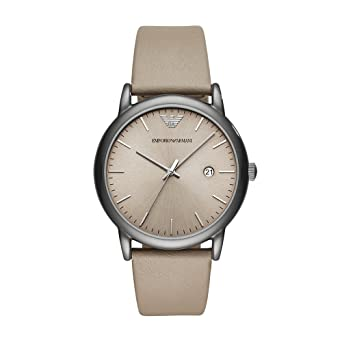 Image Unavailable. Image not available for. Color  Emporio Armani Men s  Dress Stainless Steel Quartz Watch with Leather Calfskin Strap d9735d32c3218