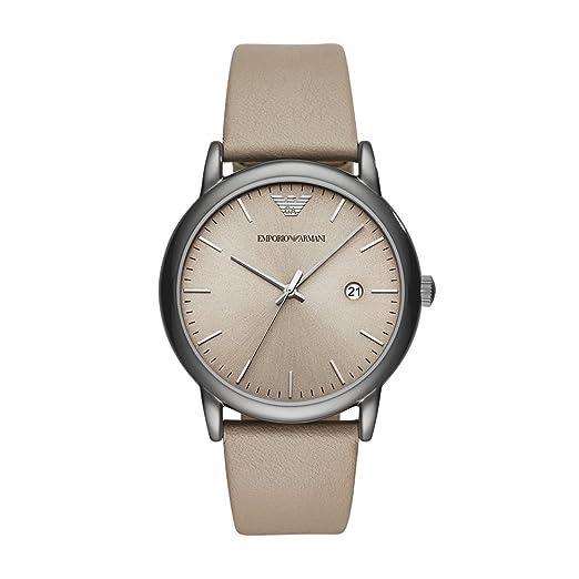 Emporio Armani Reloj Analogico para Hombre de Cuarzo con Correa en Cuero AR11116: Amazon.es: Relojes