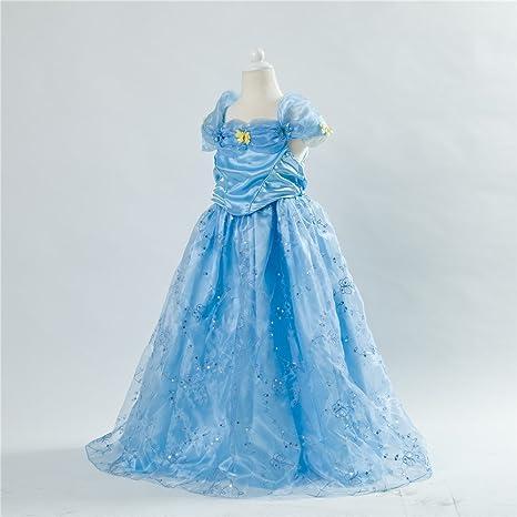 UK vendedor C1501 niñas niños, diseño de vestido de novia con vestido de princesa disfraz