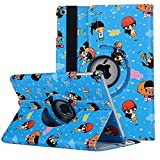 7.9 inch iPad Mini Case, iPad Mini 2 Covers , elecfan 360 Rotation Function Stabilization Stand Function Angle Adjustment Cartoon Design Cover for iPad Mini 1/2/3 Exclusive Protective Case - Blue