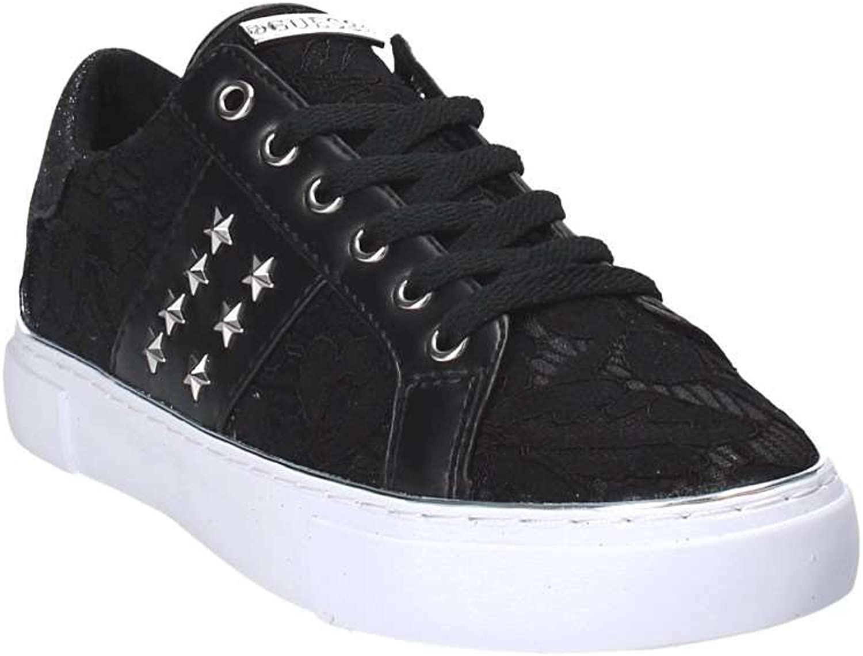 Guess Scarpe Donna Sneaker MOD. Gamer Tessuto/Ecopelle col. Nero DS18GU56 Animalier CNa1NL