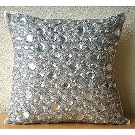 us cushion pillows is itm image pillow cover loading bling case sofa s sequin glitter sparkle reversible throw