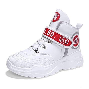 YAN Zapatos De Los Hombres 2018 Otoño Alta Top Zapatillas De Moda Casual Running Zapatos Magia Cinta Senderismo Zapatos Deportivos Zapatos Blanco Negro,B ...